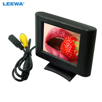 LEEWA 2.5 Digital 2.5inch Detachable RCA Video View TFT LCD Monitor For DVD Rearview Parking Sensor Camera #CA1365
