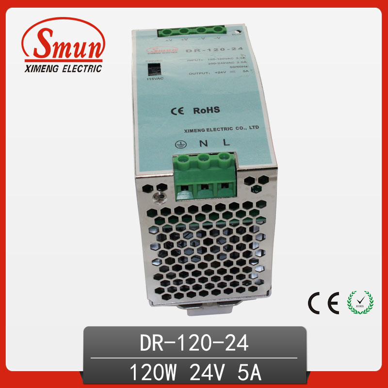 120W 24V 5A Single Output AC-DC Indoor Din Rail Switching Mode Power Supply DR-120-24 минипечь gefest пгэ 120 пгэ 120