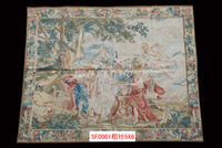Free Shipping 100% 5'x6' French Aubusson Tapestry Handwoven Pictures, Portrait, aubusson carpet
