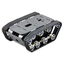 Smart Robot Car Tank Chassis Kit Aluminum Alloy Big Platform with Motors for DIY Remote Control Robot Car Toys(China)