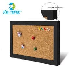 XINDI 5 цветов доска объявлений МДФ рамка пробковая доска 25*35 см булавка для фотографий Памятка пробковые доски для заметок для дома Бесплатна...
