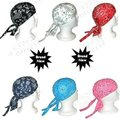 Cotton Du rag Durag Headwraps Paisley Turban Chemo Hats skull bandit Cap  mix colors