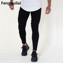2018 New Men Brand Black Jeans Men Cotton Skinny Slim Casual Stretch Denim Jean Mens Long Pants Male недорго, оригинальная цена