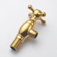 Titanium gold all Solis brass bathroom kitchen toilet European style Angle valve Screw type Stop valve with Decorative cover