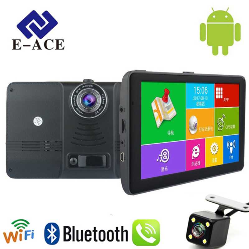 E-ACE 7 inch Car GPS Navigation Android Wifi SAT NAV Navitel Russia Map Europe America Asia Maps Auto Truck Vehicle Navigator topsource 7 inch car gps navigation android 8gb avin automobile navigator europe usa russia spain navitel map truck gps sat nav