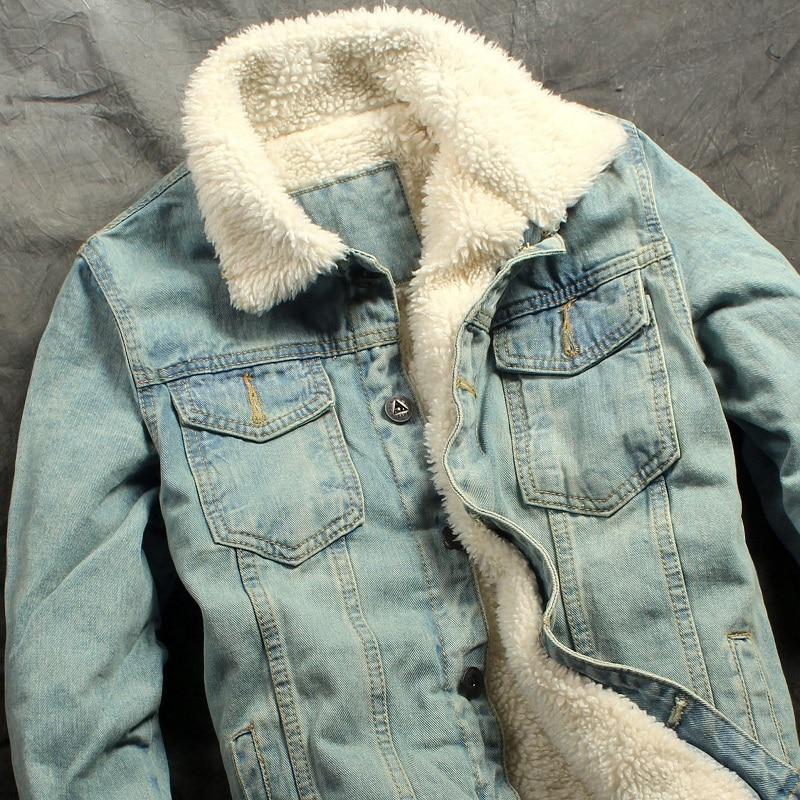 2019 herfst winter nieuwe heren bontvoering fleece jas mode slim fit - Herenkleding - Foto 1