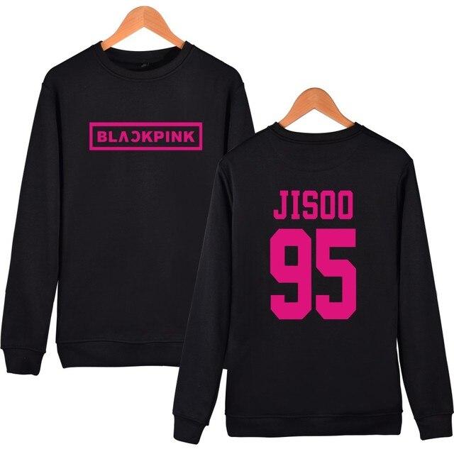 wangcangli KPOP Korean Sweatshirt Pullover Blackpink Letter Printed JENNIE ROSE LISA