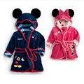 Pijamas Robe crianças das Crianças roupões Bebê Homewear Meninos Meninas Dos Desenhos Animados Flanela Robe