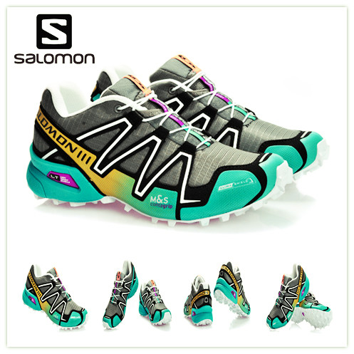 Chaussures de course homme Salomon Speed Cross 3 CS III baskets de Sport noir blanc baskets de Jogging en caoutchouc baskets de Sport homme eur 40-46