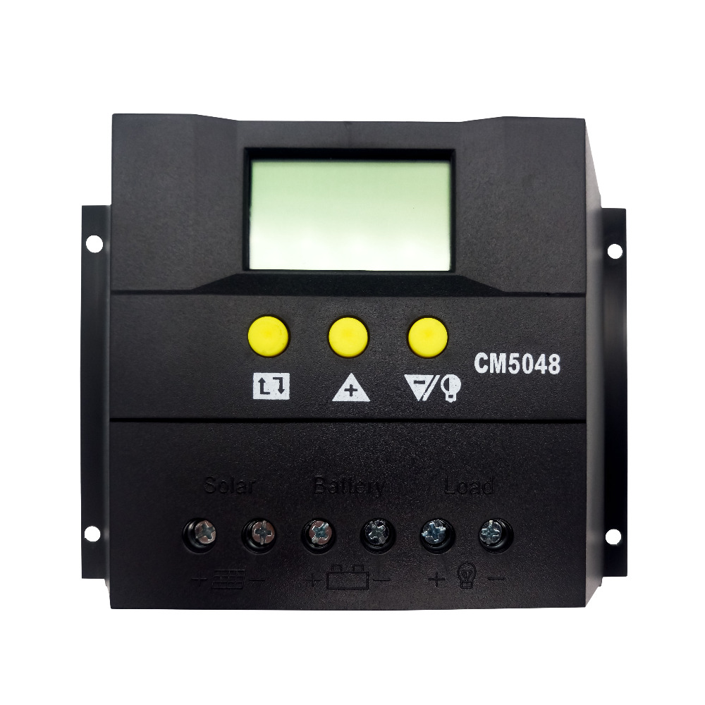 Tumo-Int 50 Amp PWM Smart Solar Controller, 48V Input with LCD Display