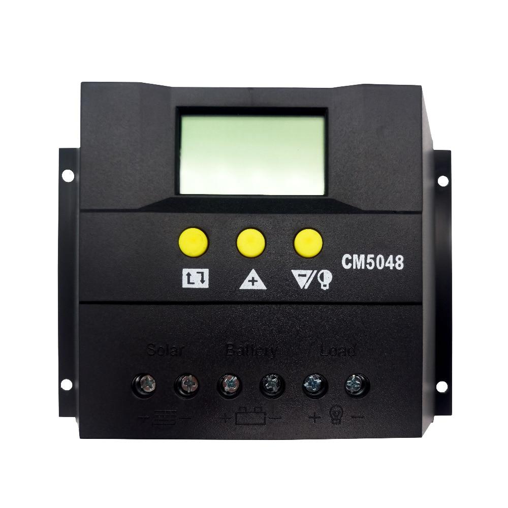 Тумо-Инт 50 Ампер ШИМ умный Солнечный Регулятор, вход 48В с дисплеем LCD