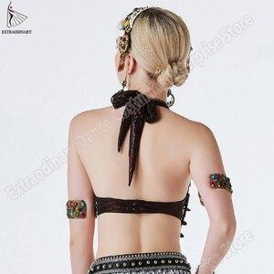 Image 3 - חדש שבטי צועני חזיית בטן ריקוד ATS חזיית מתכווננת נשים יד ואגלי ריקודי בטן בגדי תלבושות למעלה סגנון צועני