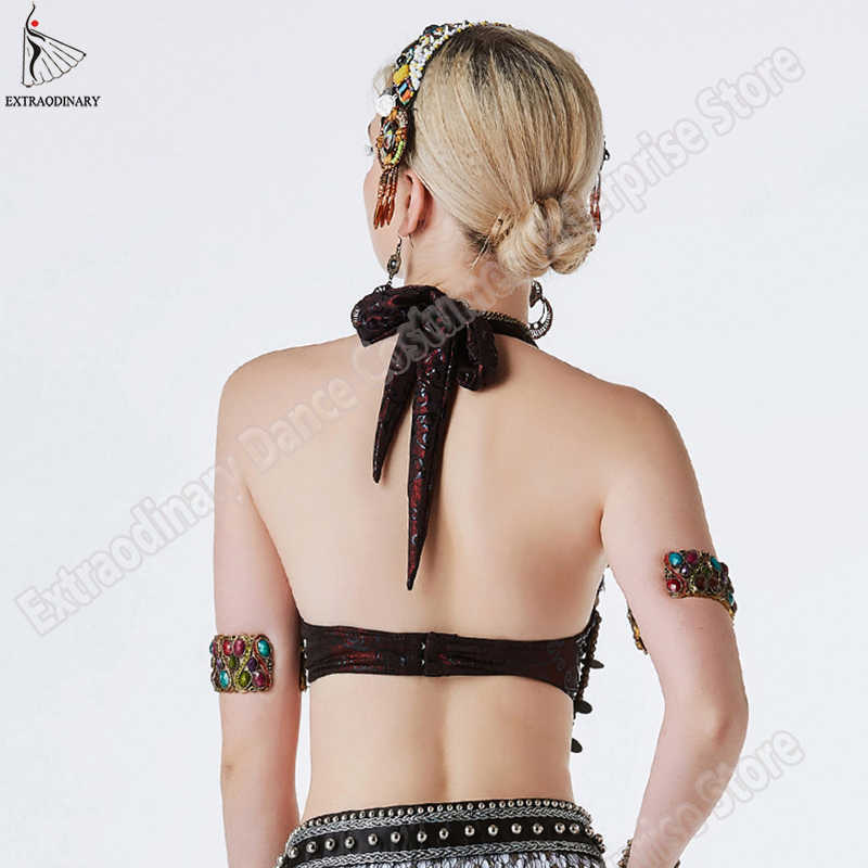 Baru Suku Gipsi Bra Tari Perut ATS Bra Disesuaikan Wanita Tangan Manik-manik Bellydance Pakaian Top Kostum Gaya Gypsy