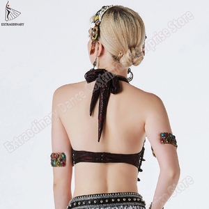 Image 3 - New Tribal Gypsy Bra Belly Dance ATS Bra Adjustable Women Hand Beading Bellydance Clothes Top Costumes Style Gypsy