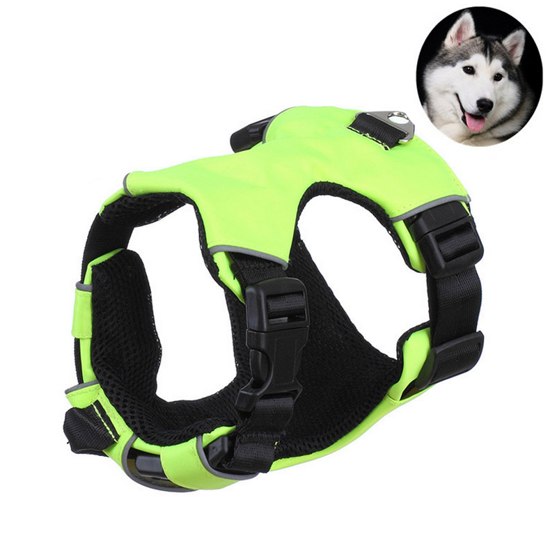 Outdoor Pet Dog Harness Nylon Adjustable Comfortable Small Medium Large Pets Puppy Walk Out Breast Strap Harnesses XHC88
