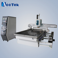 Aluminum Milling Machine 1325 1530 Computer Controlled Wood Router ATC Cnc Router Tool Changer Drilling Machine