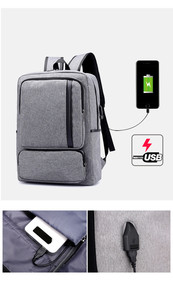 Image 5 - Multifunctional USB charging 15 Inch Backpack Waterproof Laptop Nylon Casual Business Leisure Travel Computer Bag anti thief