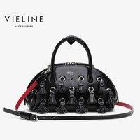 Famous Designer Brand, Vieline women genuine leather large Tassel Shell bag women cow leather shoulder bag lady handbag