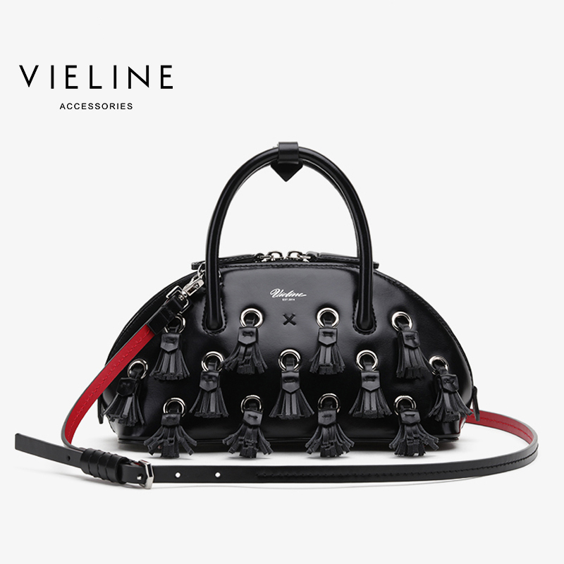Famous Designer Brand, Vieline  women genuine leather large  Tassel Shell bag women cow leather shoulder bag lady handbagFamous Designer Brand, Vieline  women genuine leather large  Tassel Shell bag women cow leather shoulder bag lady handbag