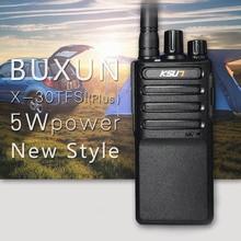 Free shipping New BUXUN X-30PLUS Portable Radio Walkie Talkie 5W 16CH UHF Two Way Radio Interphone Transceiver Mobile