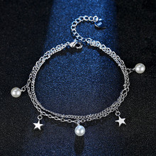 Everoyal Charm Silver 925 Girls Bracelets Jewelry Vintage Pearl Star Lady Accessories For Women Gift