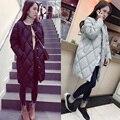 2016 Outono Inverno de Algodão Mulheres Jaqueta Acolchoada Longo Fino Preto Cinza Plus Size Parkas Para Baixo do Sexo Feminino Senhoras Jaquetas Casacos Outwear