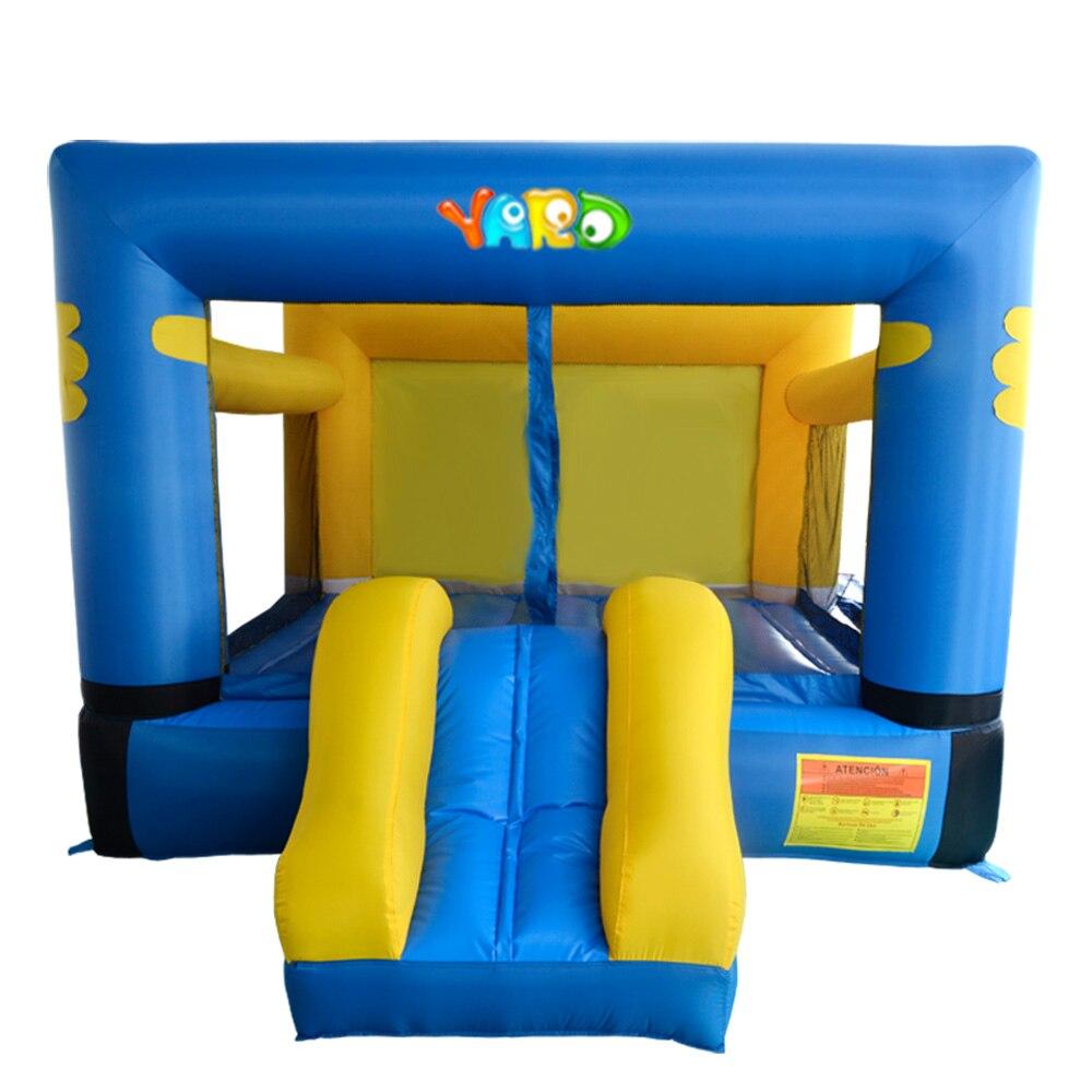 Двор нейлон надувные вышибала прыжки замок надувной батут надувной дом игрушки с горкой для дворе