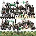 Iluminar militar educativos bloques de construcción de juguetes para los niños regalos ejército coches aviones helicóptero arma Compatible con Legoe