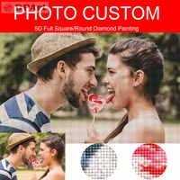 Pintura diamante foto personalização personalizada personalizado privado 5d quadrado completo/broca redonda pic daimond pintura ponto cruz h001