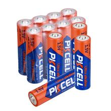 12pcs PKCELL AA Battery LR6 1.5V AM3 E91 MN1500 Alkaline Dry Batteries Primary Battery sale 4 10pcs 1 5v lithium aa battery 3000mah lr6 am3 2a lifes2 cell dry primary battery for camera and toys electric shaver