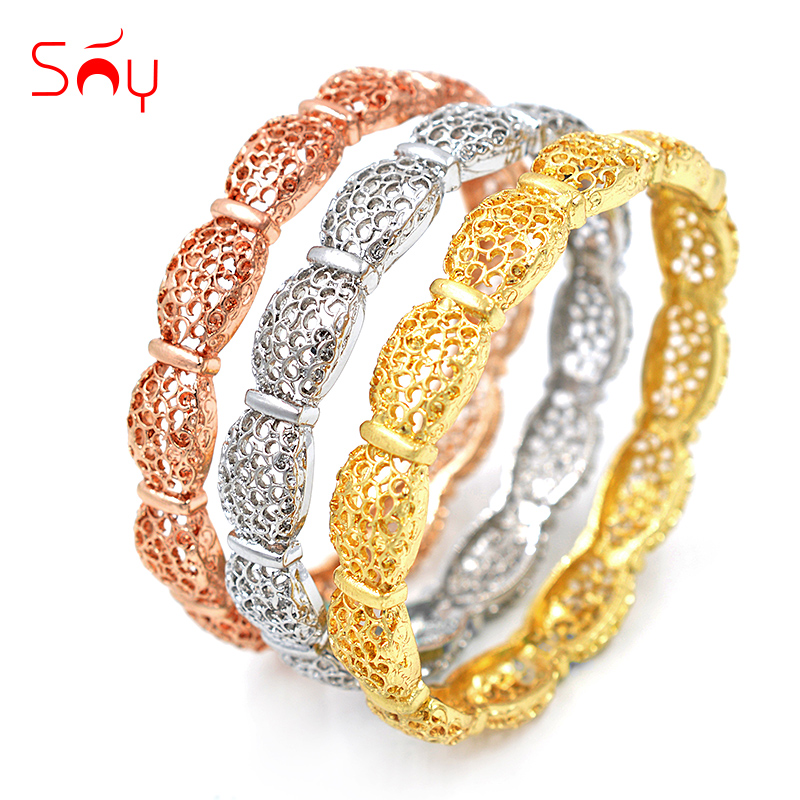 Sunny Jewelry Fashion Jewelry 2018 Cuff Bracelets Bangles For Women Dubai High Quality Ball Bowknot Hollow Out For Party Wedding