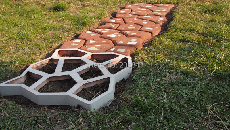 free shipping path mate diy stone pavement mold for making
