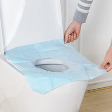 1PCS Disposable Toilet Seat Cover Mat Waterproof Travel Portable Toilet Paper Pad Travelling Bathroom Accessories L2(China)