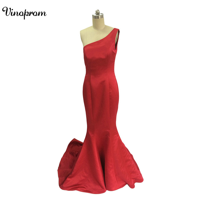 Elegant Long Formal   Dresses   for Women 2017 Lace One Shoulder Mermaid Sweep Train Sweep Train   Bridesmaid     Dresses