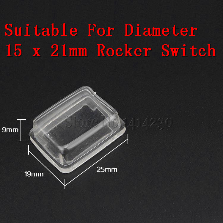 10Pcs KCD1 Transparent Waterproof Cap Waterproof Cover is Suitable For The Diameter 15 x 21mm Rocker Switch.10Pcs KCD1 Transparent Waterproof Cap Waterproof Cover is Suitable For The Diameter 15 x 21mm Rocker Switch.