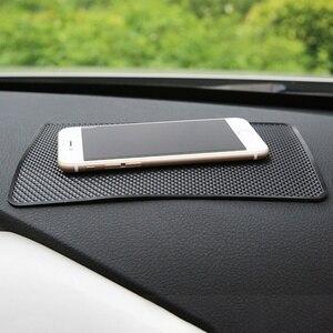 Image 2 - 1 шт., силиконовый Противоскользящий коврик для автомобиля, нескользящая накладка, автомобильный стикер, коврик для приборной панели, коврик для телефона, украшение интерьера автомобиля