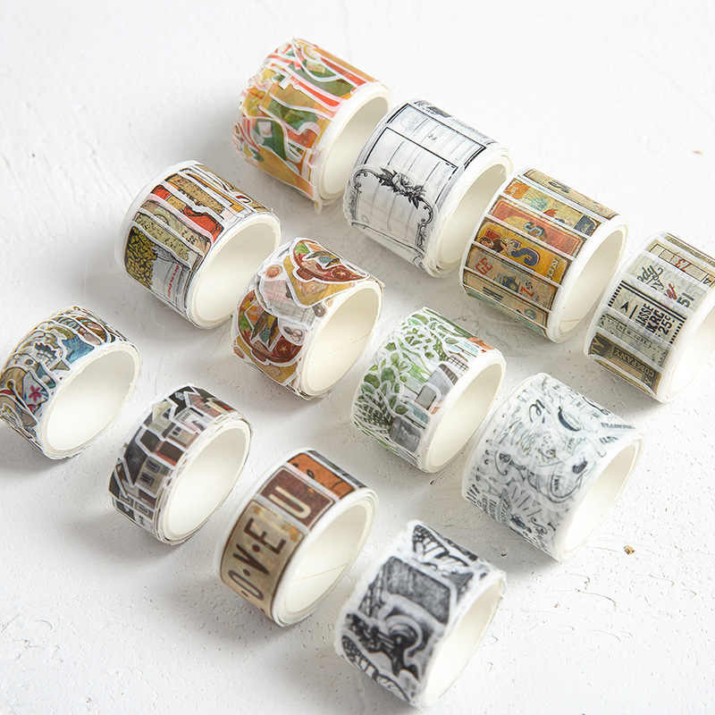 Ninja Kat Huis Nummerplaat Cocktail Decoratieve Washi Tape DIY Scrapbooking Masking Ambachtelijke Tape School Office Supply