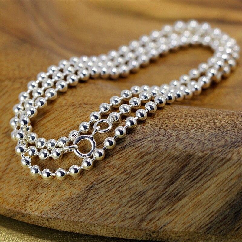 Paragraphes caractère argent 2018 nouvel été nouvelle mode hommes et femmes avec collier de perles en argent