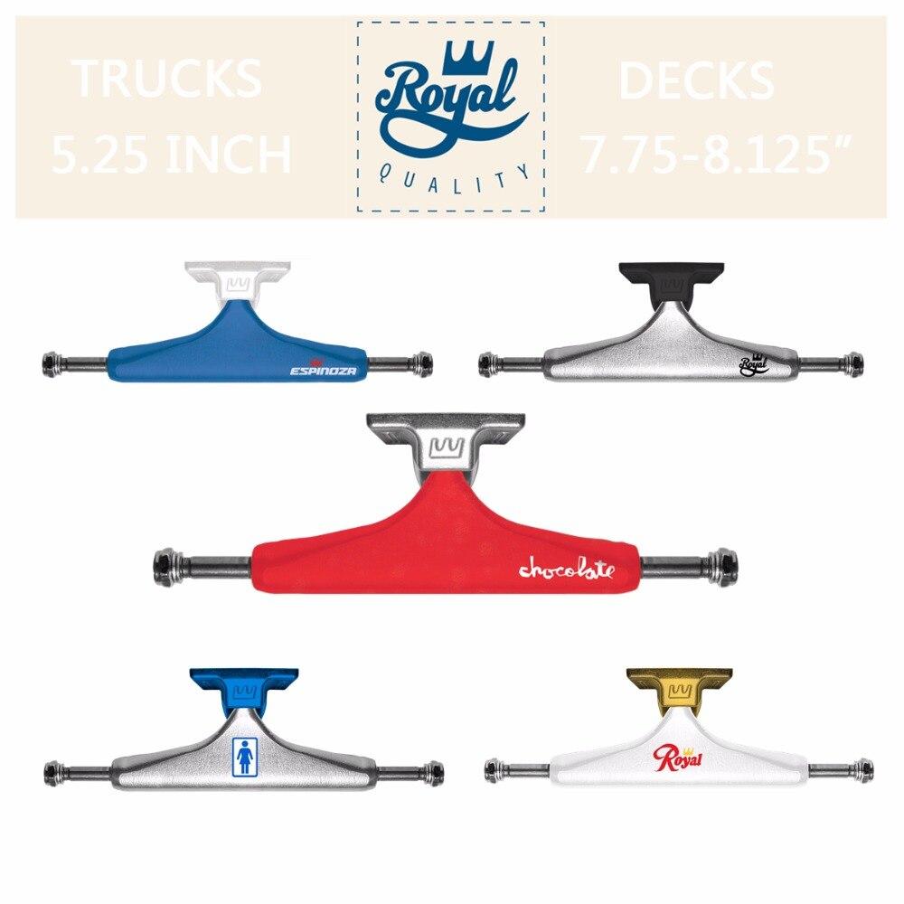 2 шт., оригинал, Королевский скейтборд, грузовики, 5,25 дюймов, алюминиевый кронштейн для скейтборда, двойной рокер, аксессуары для скейтбордин...