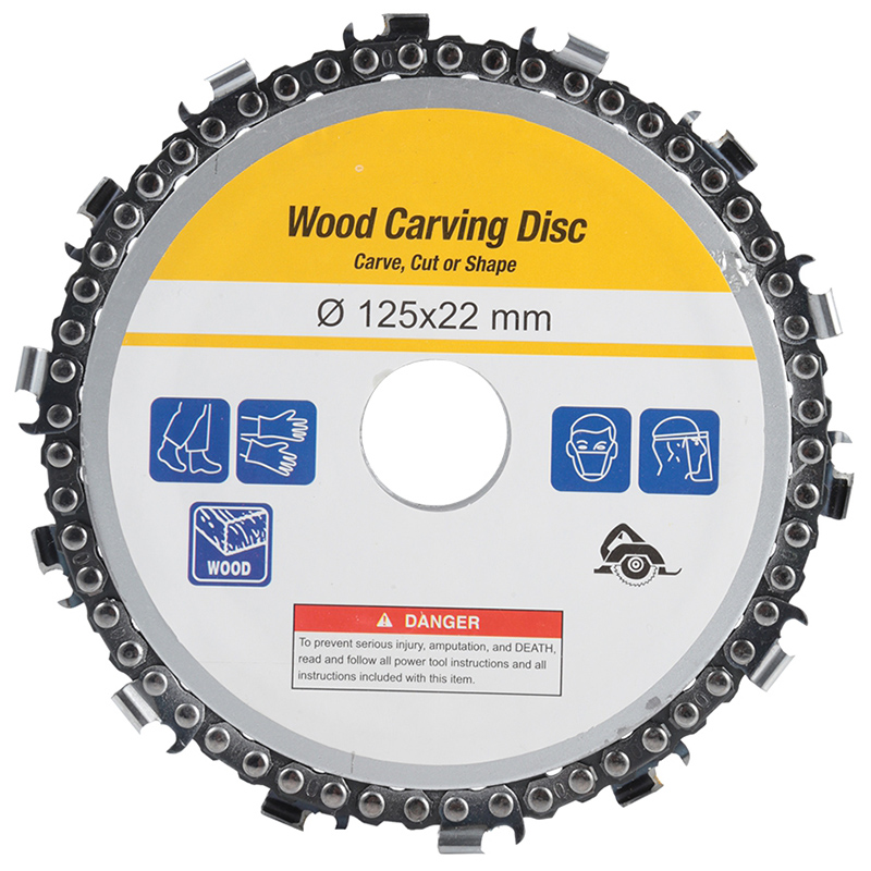 5 Inch Chain Grinder Chain <font><b>Saws</b></font> Disc <font><b>Woodworking</b></font> Chain Plate Tool 5 Inch Multi-Functional Wood Carving Disc Angle Grinding Too image