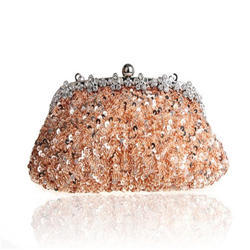 6510a0b1c 2016 Novo saco de Embreagem Do Vintage Bolsa paillette Noite Saco de Festa  de Casamento Das Mulheres de Ouro opala preto vermelho Bolsas de Noiva WY20