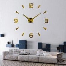 2017 New Vintage Wall Clock Modern Design Large Diy Acrylic Clocks Horloge Murale Quartz Watch 3d Stickers Brief Living Room