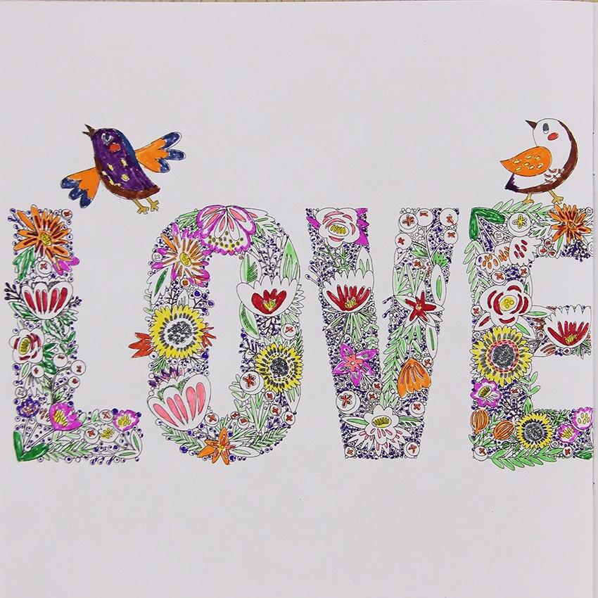Ручной росписью исследовать Wonderland раскраска 24 страницы фэнтезийная мечта граффити книга живописи