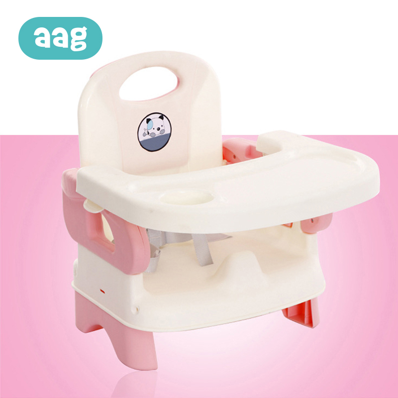AAG Baby Chair Feeding Portable Baby Dining Chair Table Children Eating Seat Adjustable Folding Infant Dinner Table 30