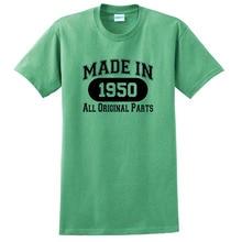 Birthday Gift Made 1950 All Original Parts T-Shirt,Crew Neck T Shirt,Fashion Tshirt Cute Customize Soft