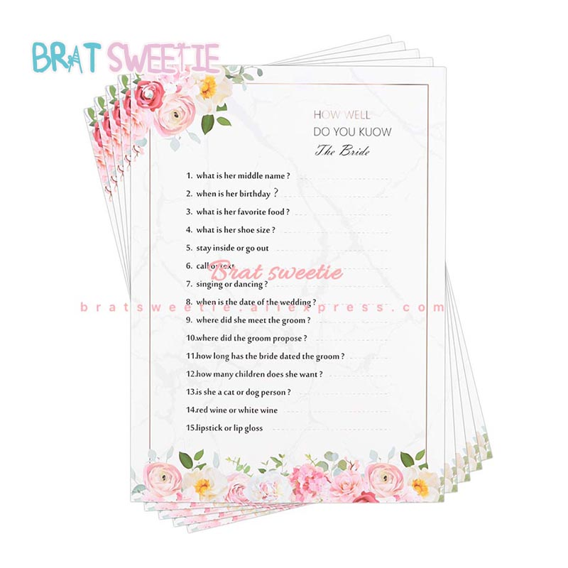 How Well Do You Know The Bride Flower Couples Guessing