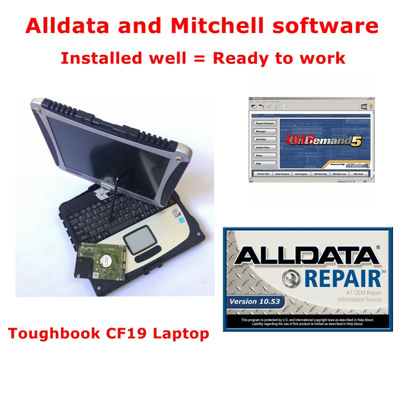 Alldata Repair Software Installed Well Alldata 10.50 Mitchell Ondemand 2015V With Toughbook CF19 Laptop For P.anasonic PC 4g