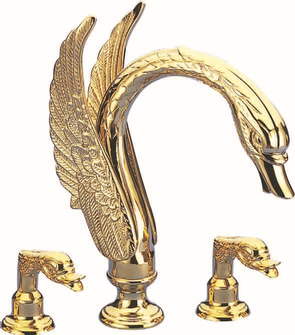 Free Shipping 3 Pieces Roman Tub Swan Faucet Bathroom Swan