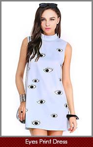 Eyes-Print-Dress