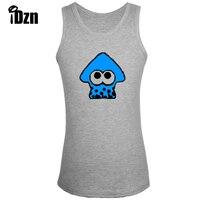 Splatoon Purple Octopus Blue Squid Green Squid Men Fitness Bodybuilding Tank Tops Gym Singlets Sleeveless Vest